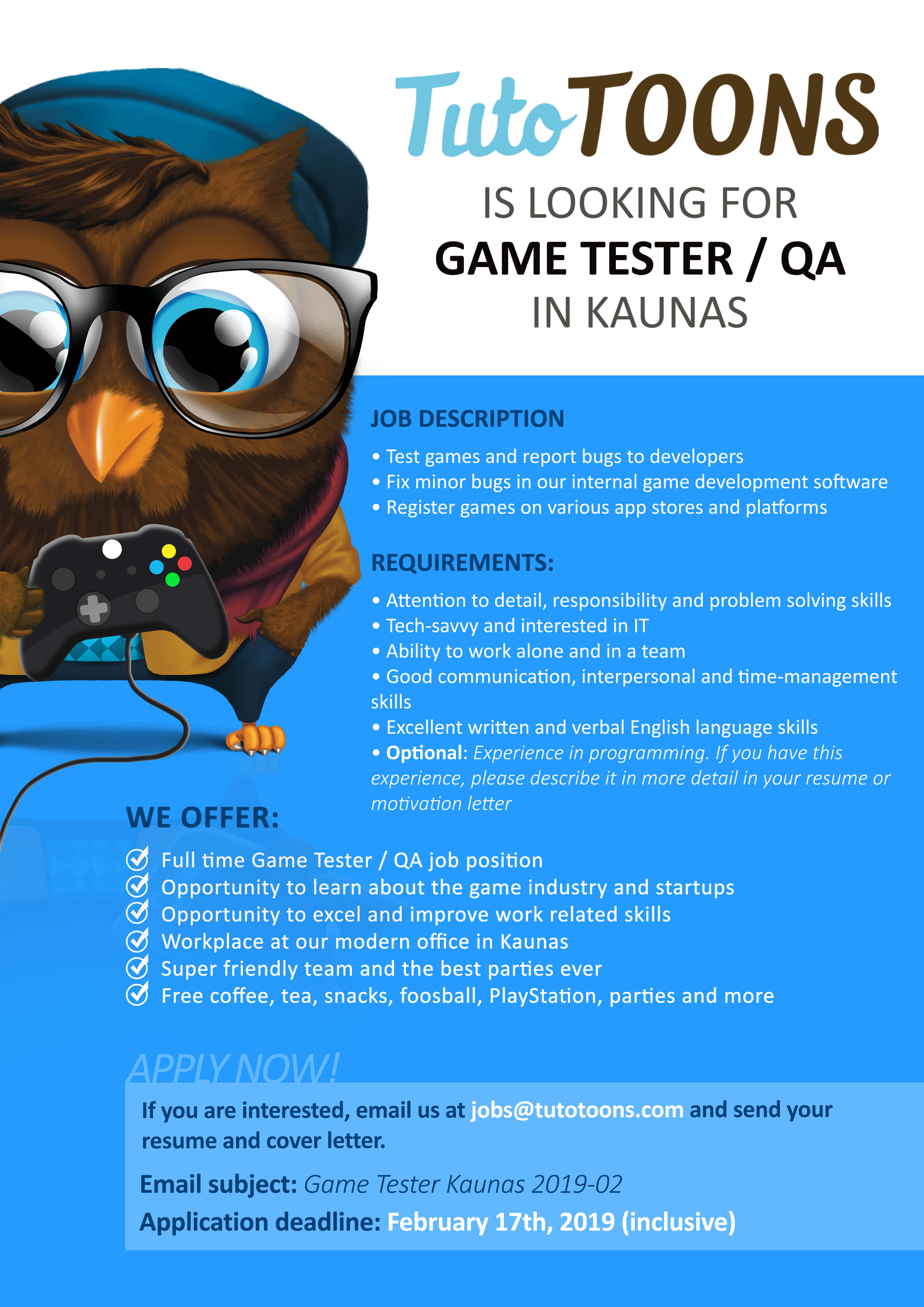 TutoTOONS Is Looking for a Game Tester / QA! | TutoTOONS Blog – Kids ...